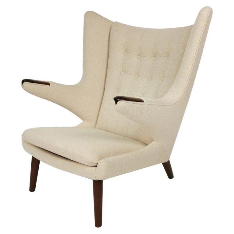 Hans J. Wegner, Papa Bear Easy Chair by Johannes Hansen For Sale