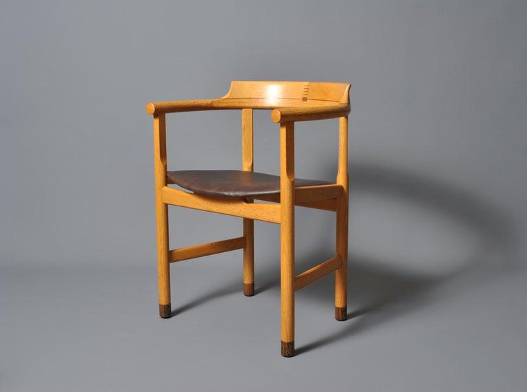 Oak Hans J Wegner PP52 Chairs For Sale