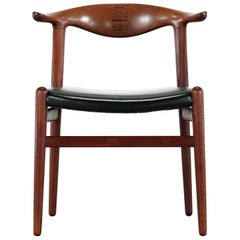 Hans J. Wegner Rare Cowhorn Chair in Teak, 1952 for Johannes Hansen, Denmark