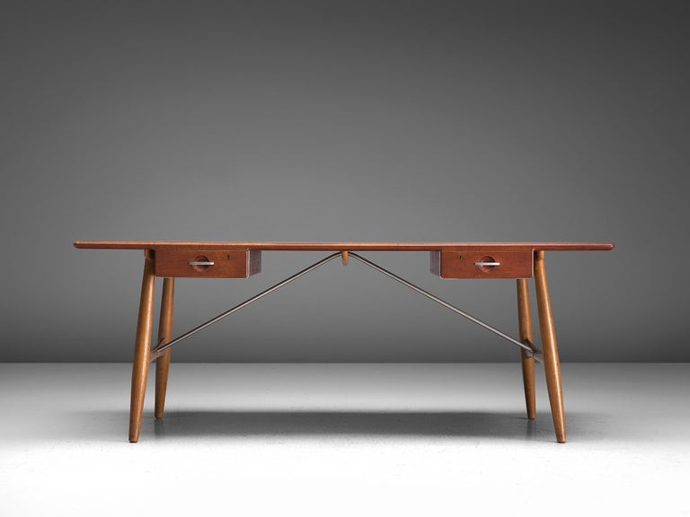 Scandinavian Modern Hans J. Wegner Rare 'JH572' Architect's Desk, 1953 For Sale