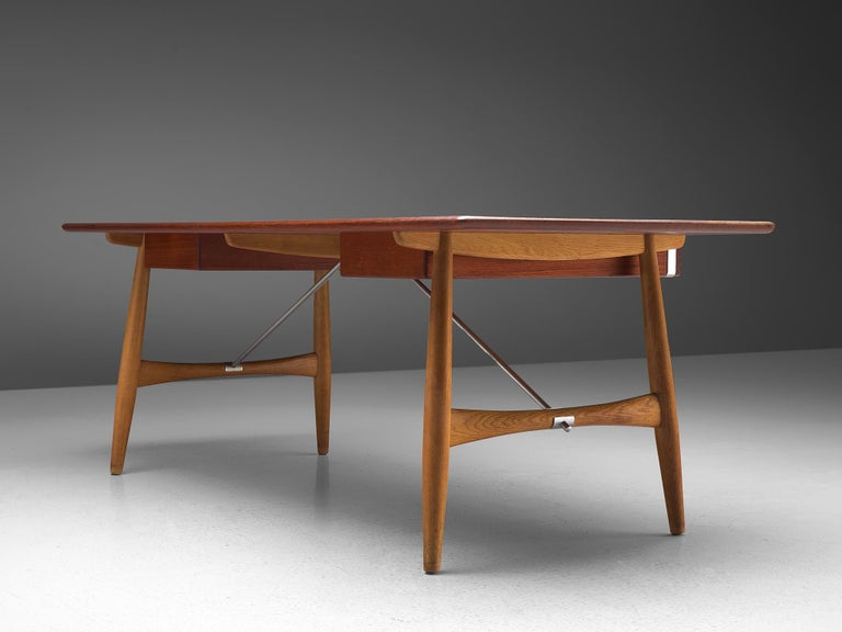 Mid-20th Century Hans J. Wegner Rare 'JH572' Architect's Desk, 1953 For Sale