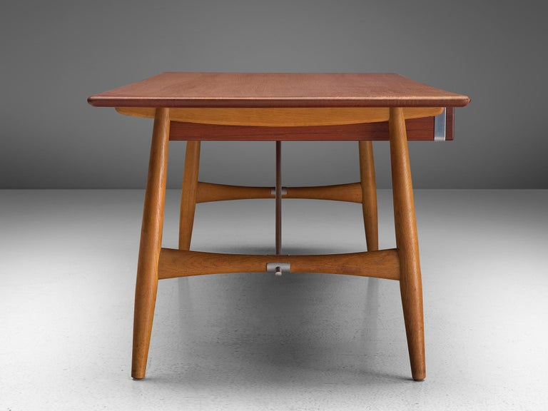 Metal Hans J. Wegner Rare 'JH572' Architect's Desk, 1953 For Sale