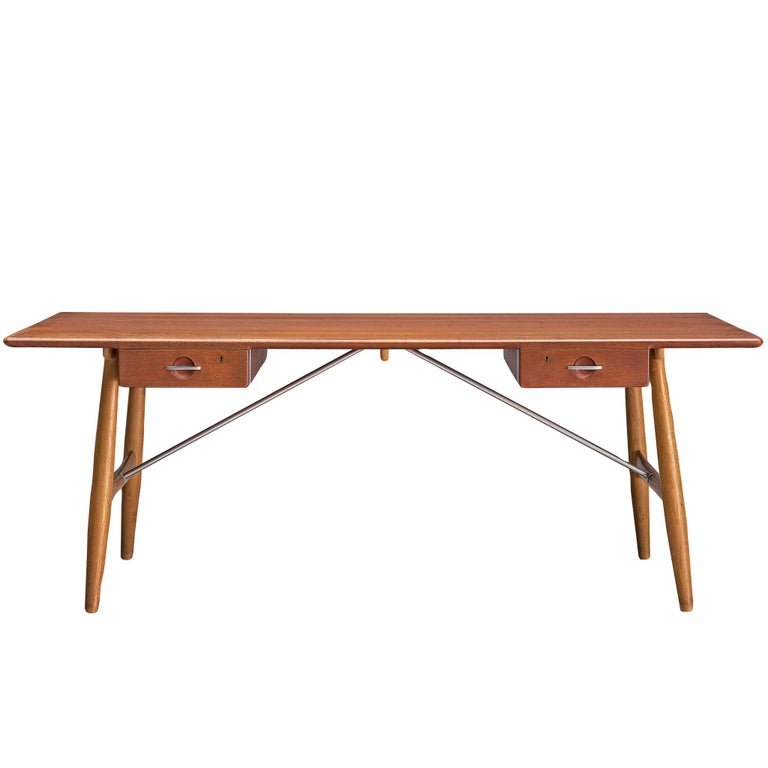 Hans J. Wegner Rare 'JH572' Architect's Desk, 1953 For Sale