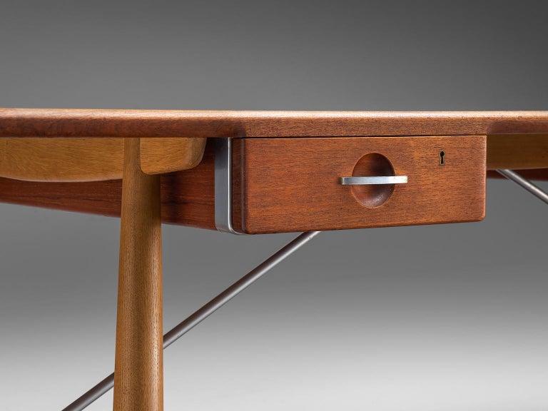 Scandinavian Modern Hans J. Wegner Rare 'JH571' Desk in Oak For Sale