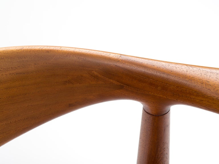 Hans J Wegner The Chair Model JH501 in Teak with Original Cane Seat  For Sale 5