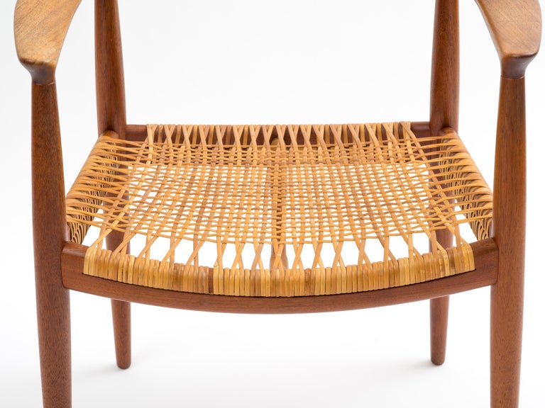 Hans J Wegner The Chair Model JH501 in Teak with Original Cane Seat  For Sale 1