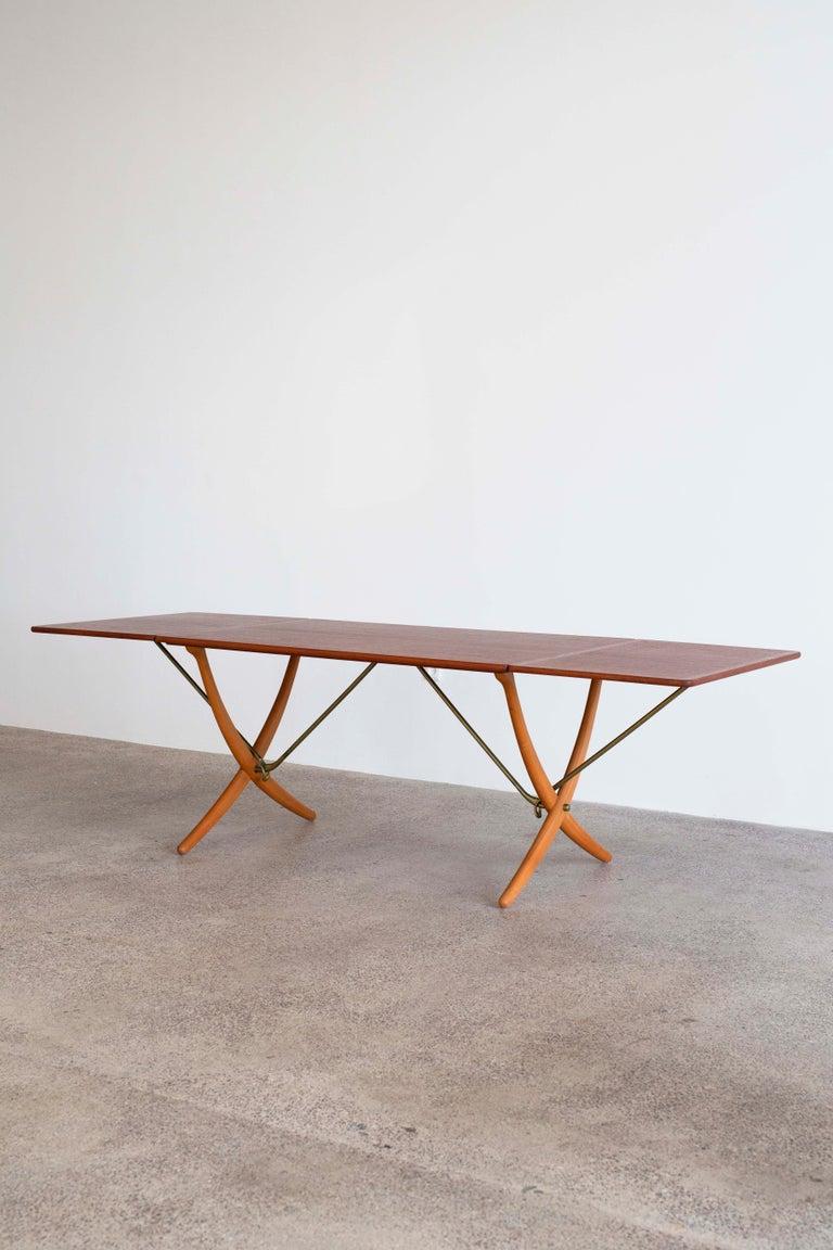 Scandinavian Modern Hans J. Wegner Sabre Leg Table Model AT-304 for Andreas Tuck For Sale