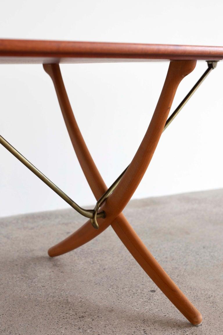 Danish Hans J. Wegner Sabre Leg Table Model AT-304 for Andreas Tuck For Sale