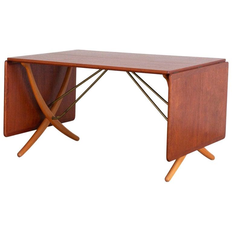 Hans J. Wegner Sabre Leg Table Model AT-304 for Andreas Tuck For Sale