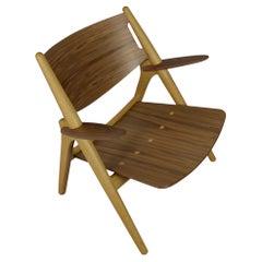 Hans J. Wegner Sawbuck Chair CH28 for Carl Hansen Walnut & Oak