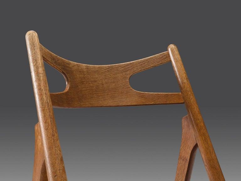 Beech Hans J. Wegner Set of Eight Matching 'Sawbuck' Chairs For Sale