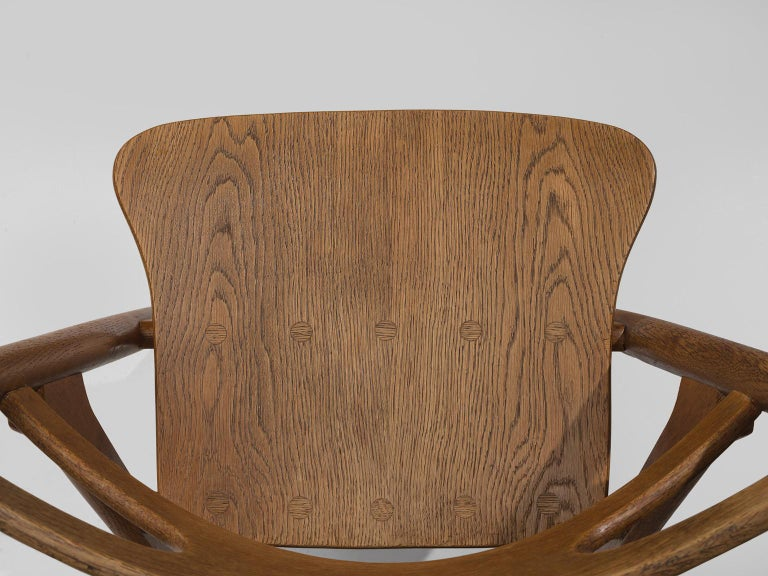 Hans J. Wegner Set of Eight Matching 'Sawbuck' Chairs For Sale 2