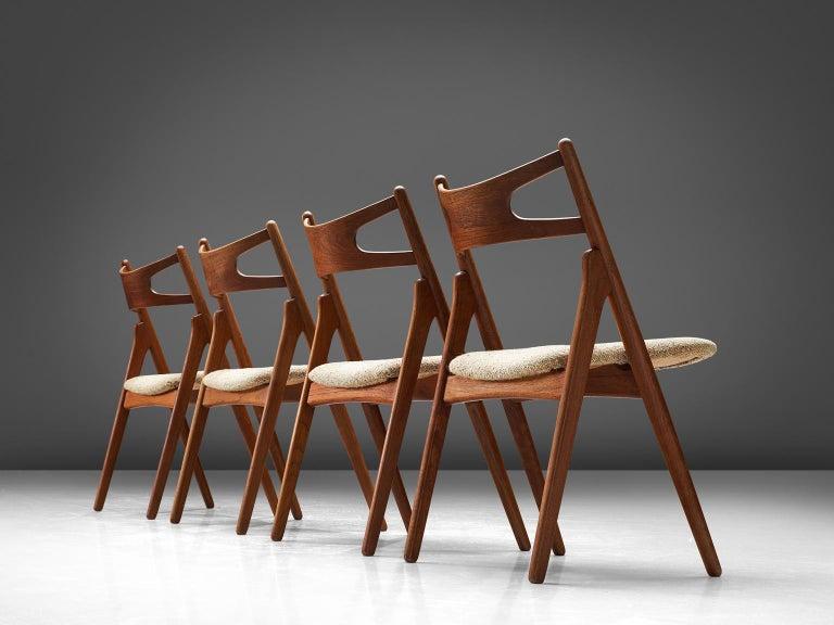 Scandinavian Modern Hans J. Wegner Sawbuck Chairs