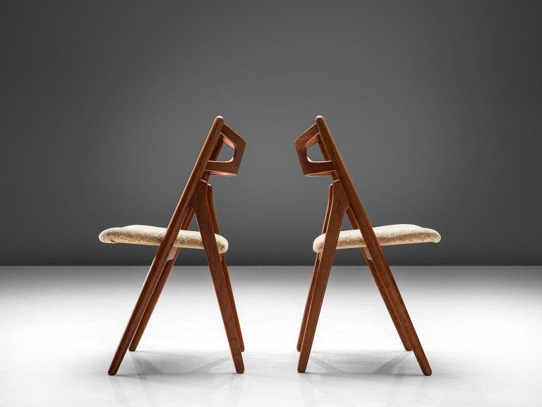 Danish Hans J. Wegner Sawbuck Chairs