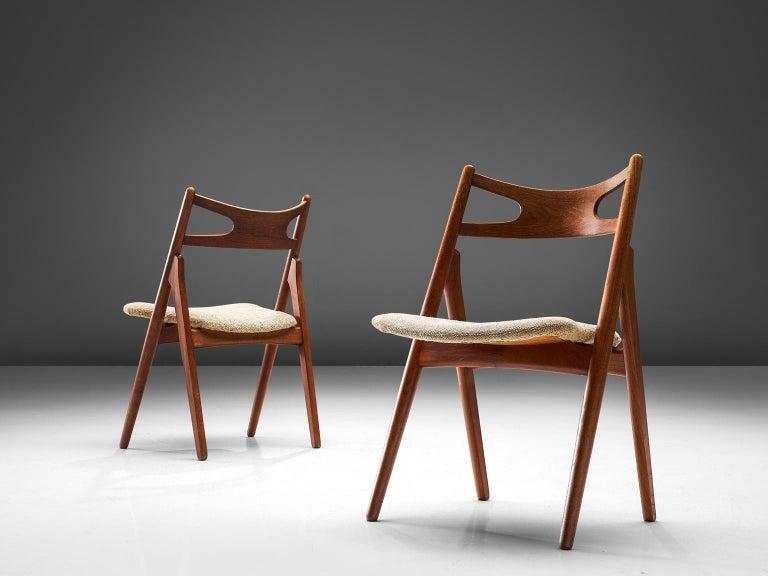 Hans J. Wegner Sawbuck Chairs In Good Condition In Waalwijk, NL