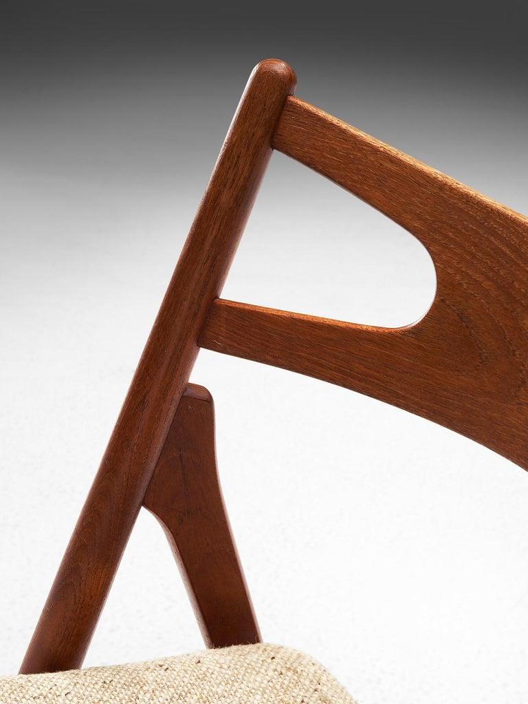 Fabric Hans J. Wegner Sawbuck Chairs