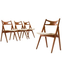 Hans J. Wegner Set of Four Sawbuck Chairs
