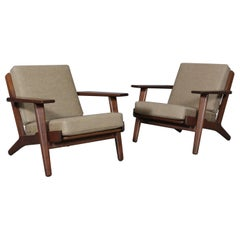 Hans J. Wegner, Set of Lounge Chairs, Model 290, Oak