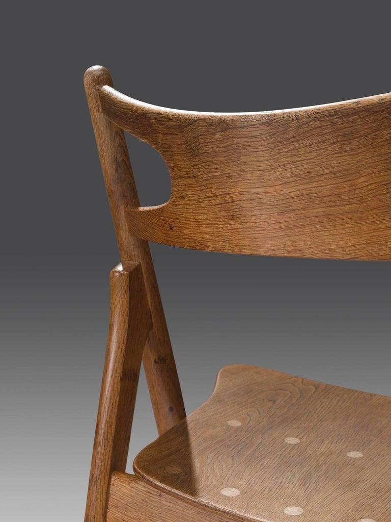 Oak Hans J. Wegner Set of 'Sawbuck' Chairs for Carl Hansen For Sale