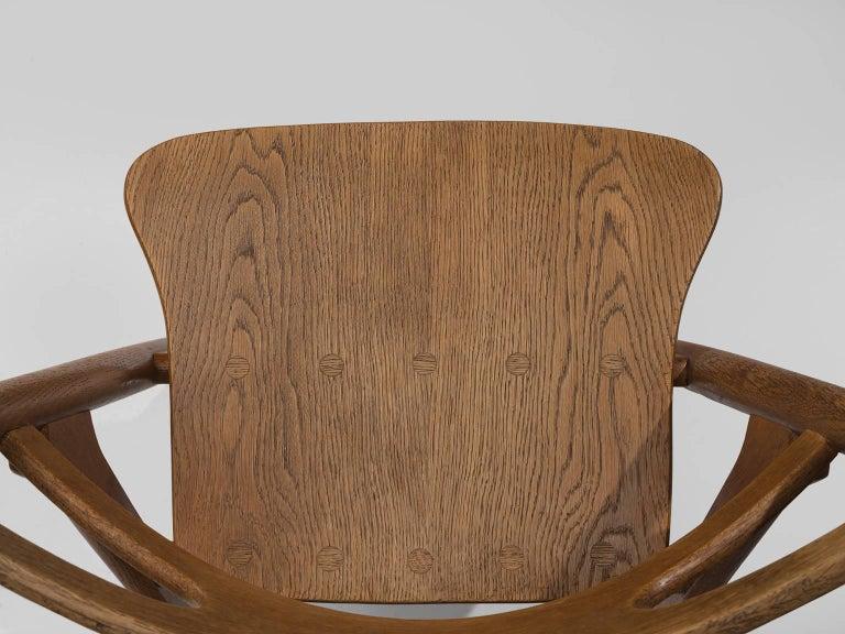 Hans J. Wegner Set of 'Sawbuck' Chairs for Carl Hansen For Sale 1