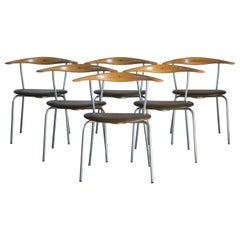 Hans J. Wegner Set of Six JH-701 Armchairs for Johannes Hansen
