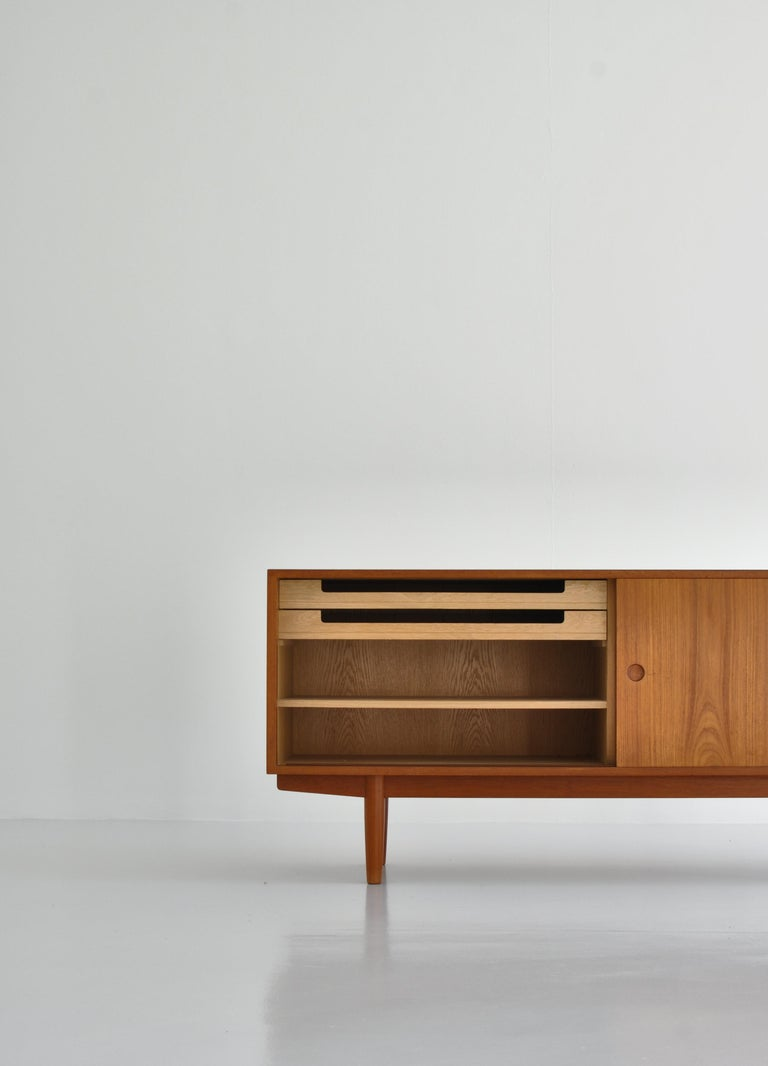 Mid-20th Century Hans J. Wegner Sideboard in Teakwood made at Cabinetmaker Johannes Hansen, 1960s