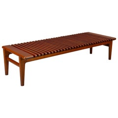 Hans J. Wegner Slatted Bench or Coffee Table, 1950s