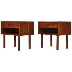 """Hans J. Wegner Teak Bedside Tables """"Model 430"""" by Ry Møbelfabrik, Denmark, 1960s"""