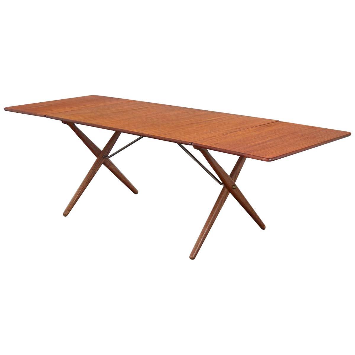 Hans J. Wegner Teak Cross-Leg Dining Table