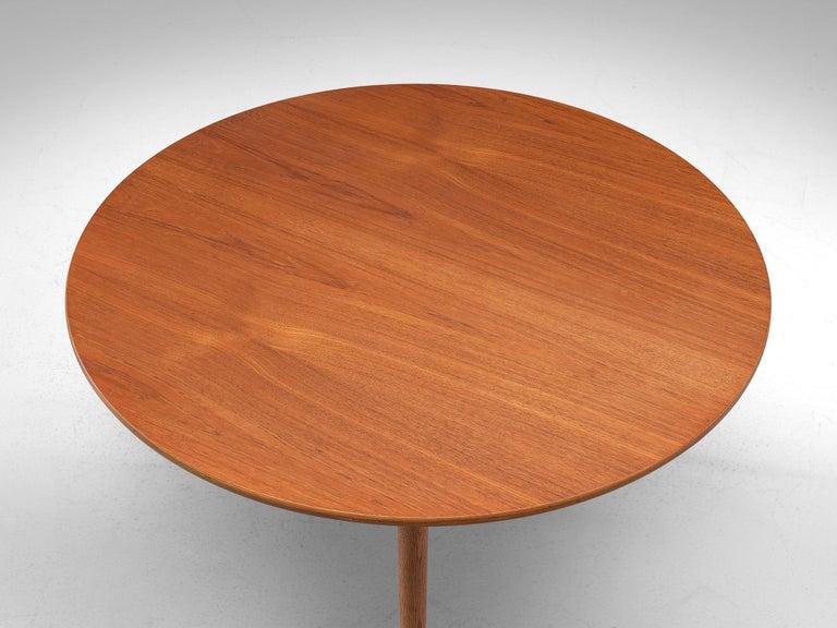 Patinated Teak and Oak 'Heart' dining room set by Hans J. Wegner for Fritz Hanse For Sale 4
