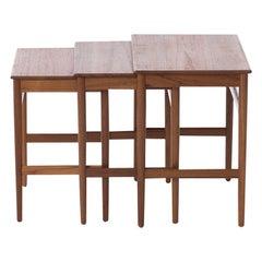 Hans J Wegner Teak Nesting Tables