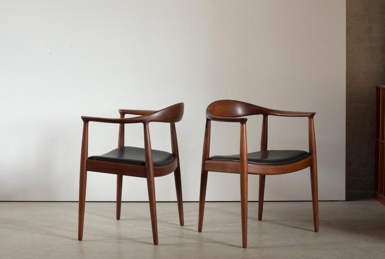 Scandinavian Modern Hans J. Wegner 'The Chair' in Teak for Johannes Hansen For Sale