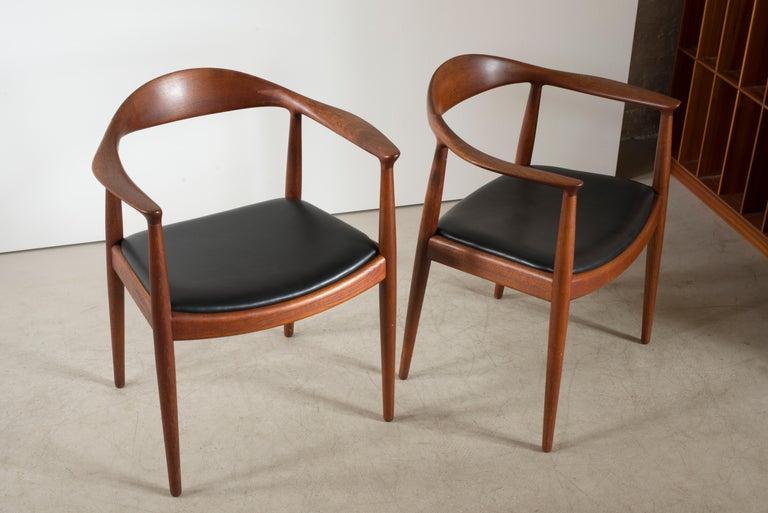 Danish Hans J. Wegner 'The Chair' in Teak for Johannes Hansen For Sale