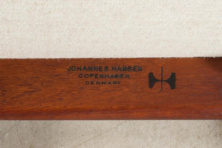 Oiled Hans J. Wegner 'The Chair' in Teak for Johannes Hansen For Sale