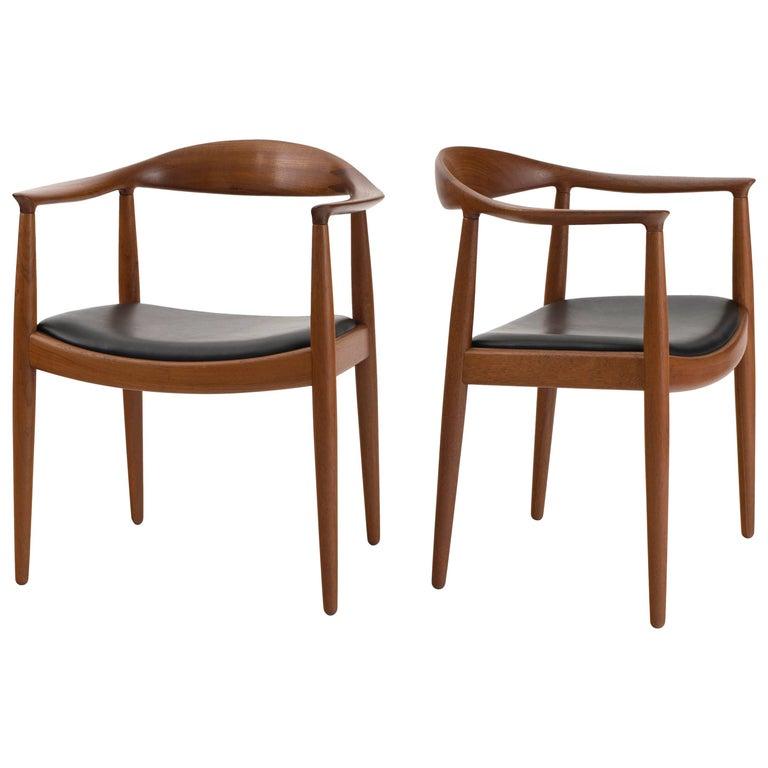 Hans J. Wegner 'The Chair' in Teak for Johannes Hansen For Sale