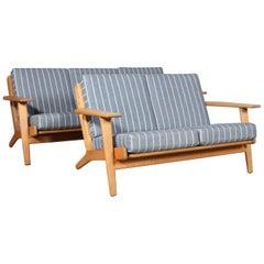 Hans J. Wegner, Three and Two-Seat Sofa, Model 290, Oak