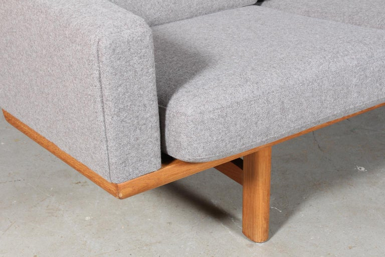 Danish Hans J. Wegner Three-Seat Sofa For Sale