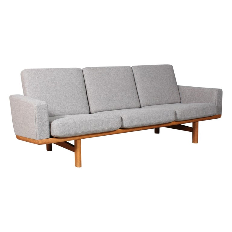 Hans J. Wegner Three-Seat Sofa For Sale