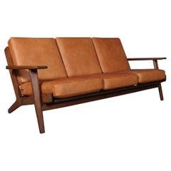 Hans J. Wegner, Three-Seat Sofa, Model 290, Smoked Oak