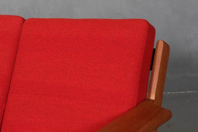 Mid-Century Modern Hans J. Wegner, Three-Seat Sofa, Model 290, Teak For Sale