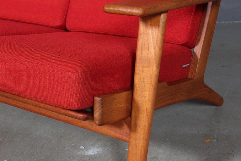 Danish Hans J. Wegner, Three-Seat Sofa, Model 290, Teak For Sale