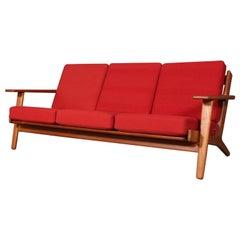 Hans J. Wegner, Three-Seat Sofa, Model 290, Teak