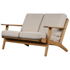 Hans J. Wegner Two-Seating Oak Sofa GE-290/2