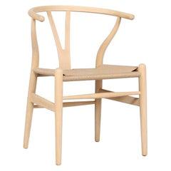 Hans J. Wegner Wishbone Chair CH 24 of Beech by Carl Hansen A/S Denmark, 1980s