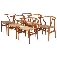 "Hans J. Wegner ""Y-Chairs"" Model CH24 Carl Hansen & Son, 1950s"