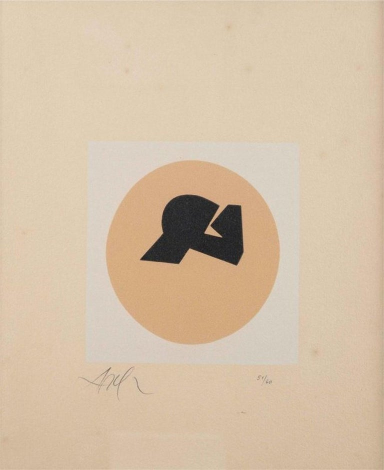Hans (Jean) Arp Abstract Print - Soleil recerclé