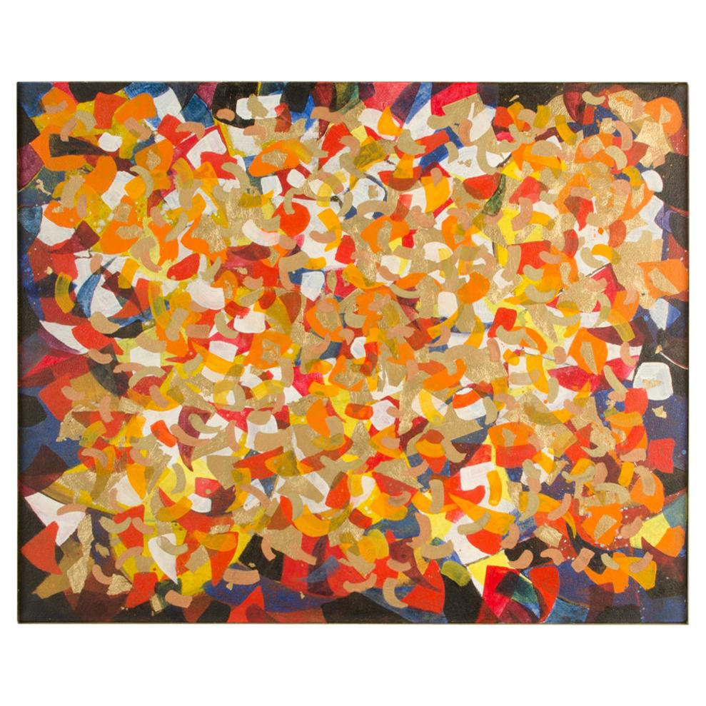 "Hans Kline (Canadian, b. 1924 -d. 1994) ""#9 Chinese Acrobats"" oil painting."