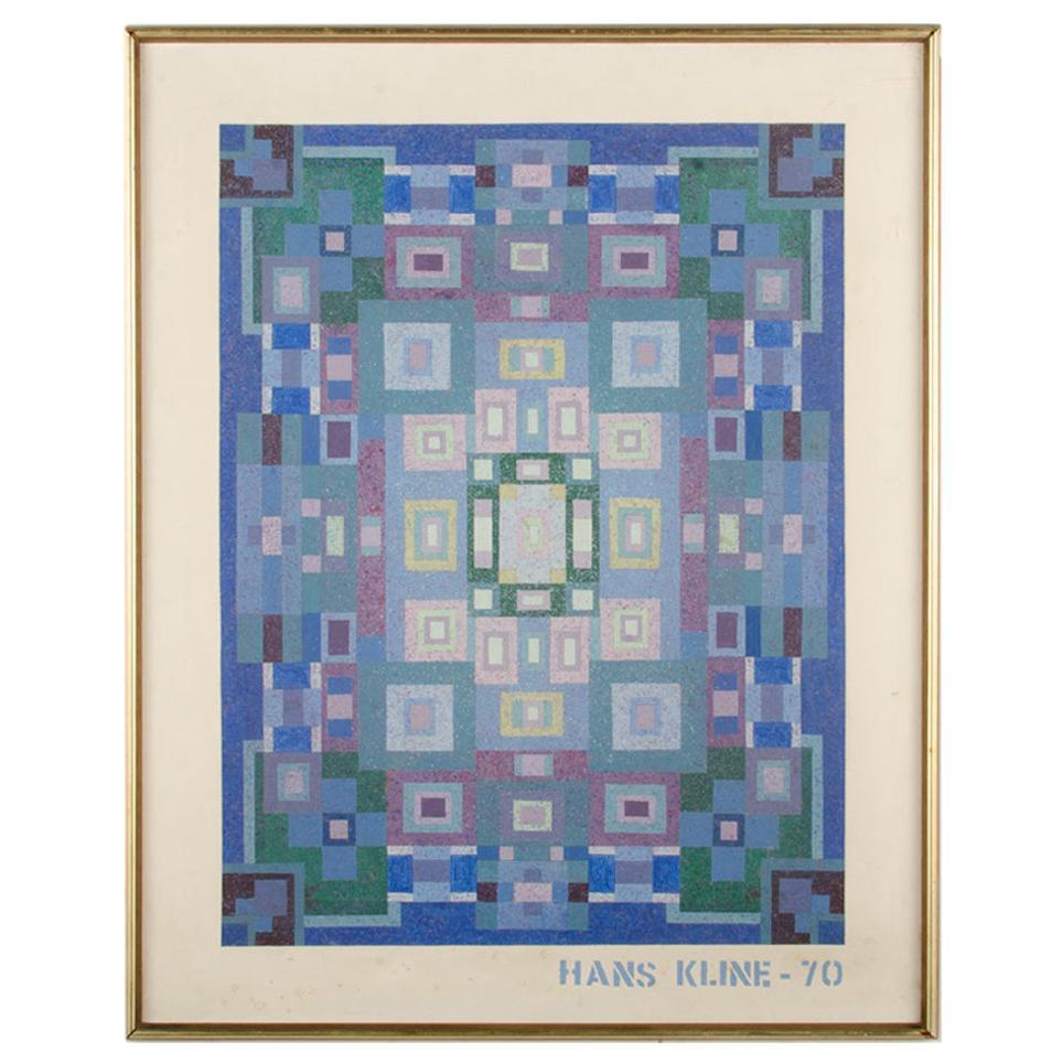 Hans Kline 'Canadian, 1924-1994', Blue Kaleidescope