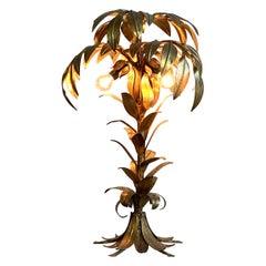 Hans Kogl Gilt Palm Tree Table Lamp, 1970s