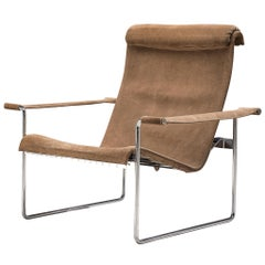 Hans Könecke Lounge Chair in Beige Suede, Tecta, Germany, 1960s